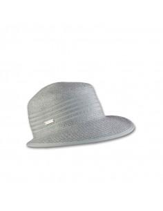 Elegante gorra de visera amplia para mujer.