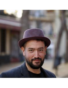 sombrero verano hombre cuadros beige 1